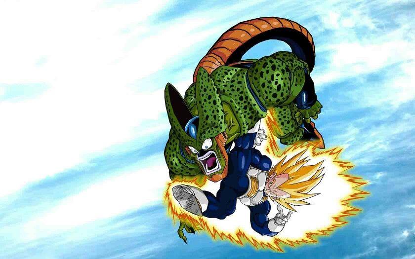 Vegeta Vs Cell 2 Dbz Dragon Ball Z Dragon Ball Y Imágenes