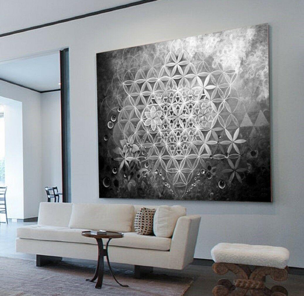 kaufen xxl leinwand bild 135x100x5 abstraktes schwarz weiss grau wandbild ikea modern ar 89 99 wandbilder druck auf ohne rahmen 5 teiliges
