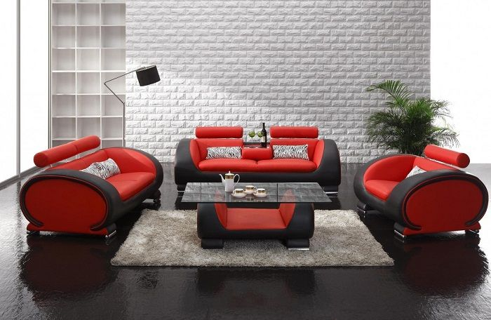 Furniture Red Sofa Design Ideas Black Red Sofa Design With Oval Shape With  Wall Texture Design