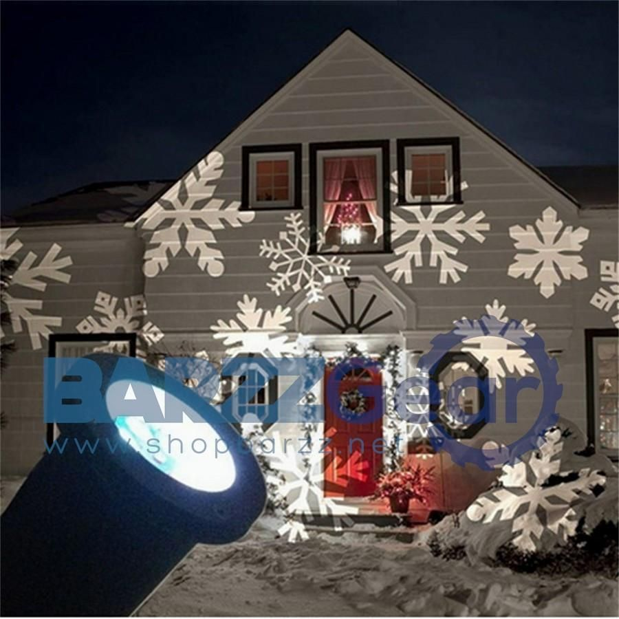Snowflake Laser Projector Led Stage Light Holiday Outdoor Lamp