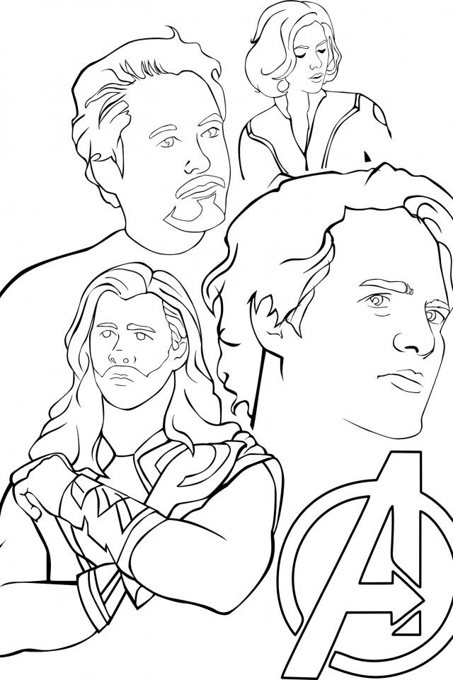 avengers coloring pages a400 - photo#18