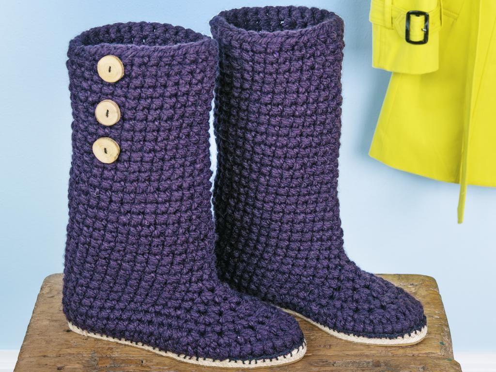 Häkel Boots Häkeln Pinterest Häkeln Stricken Und Schuhe Häkeln