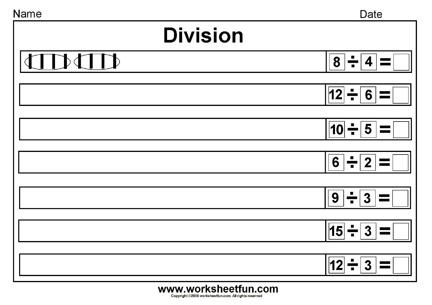 Division Draw Lines Worksheet 1 1 492 1 054 Pixels