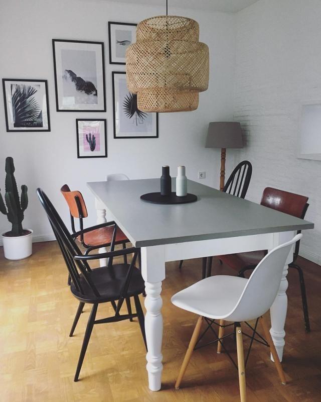 esszimmer ikea lampe vintage st hle und designklassiker. Black Bedroom Furniture Sets. Home Design Ideas