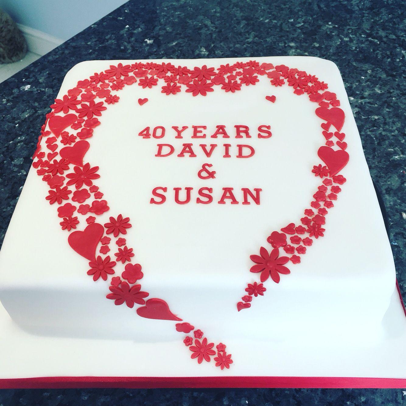 Ruby wedding anniversary cake   Anniversary   Pinterest   Ruby ...