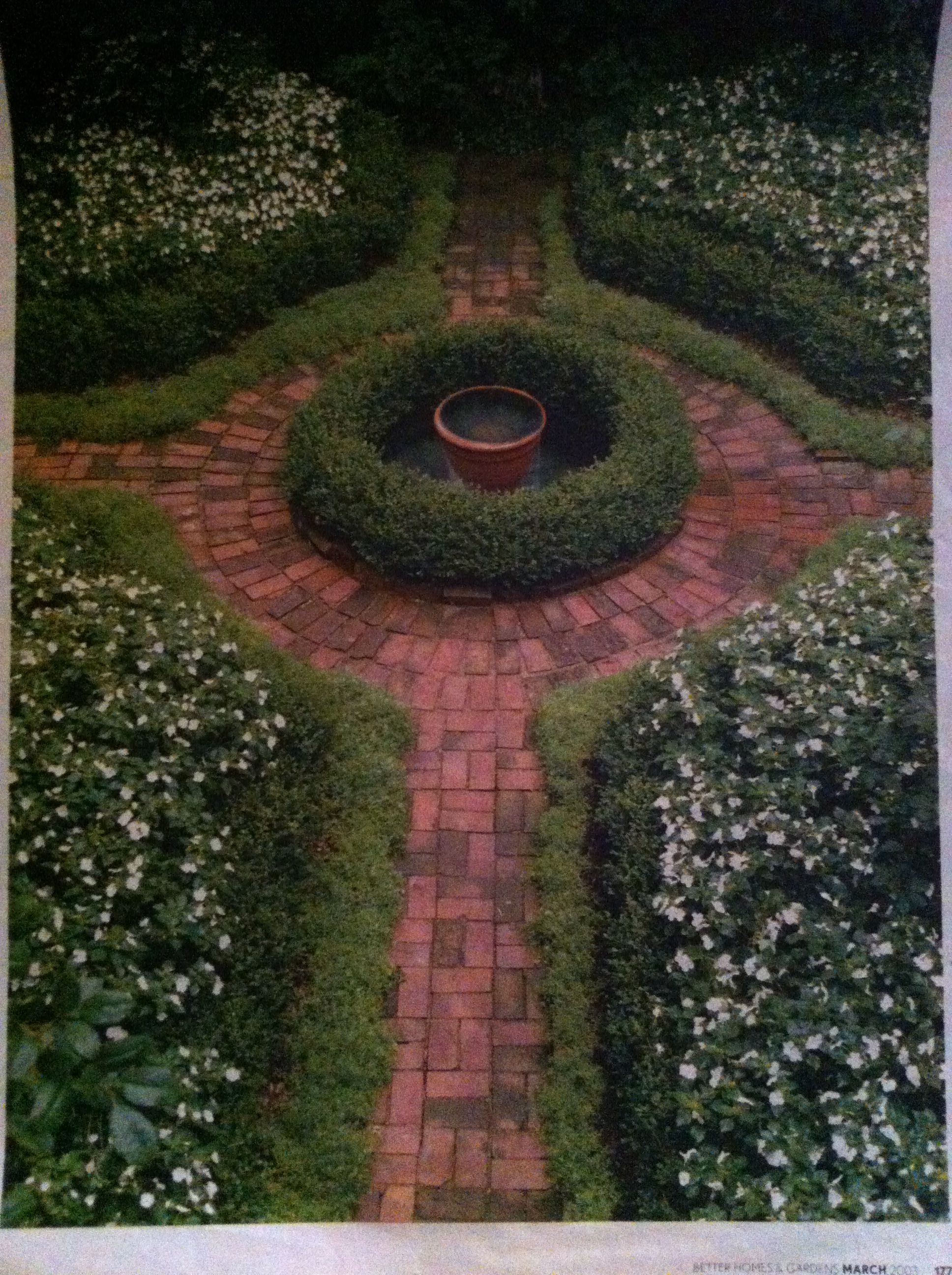 Focal Point Path Traditional Landscape Front Yard Plants Garden Spaces
