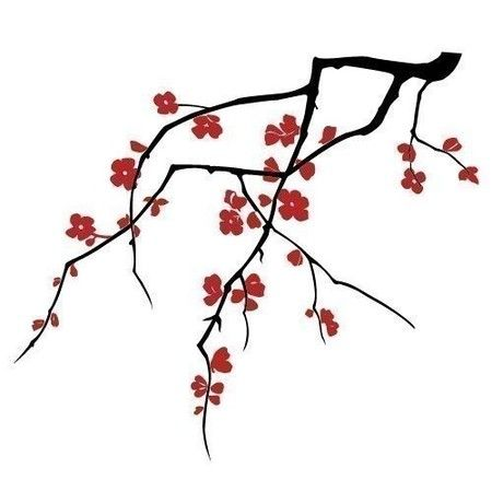 Cherry Blossom Symbol Of Beauty Large Wall Decals Cherry Blossom Drawing Blossoms Art