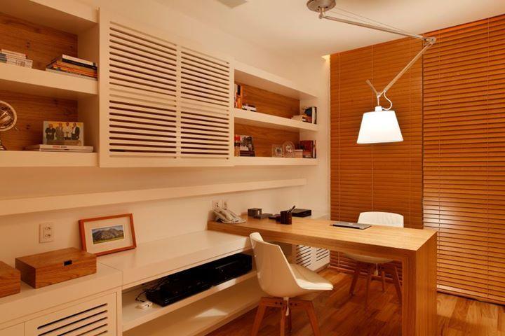 Apartamento Reserva – Paola Ribeiro #homeoffice #lighting #furniture