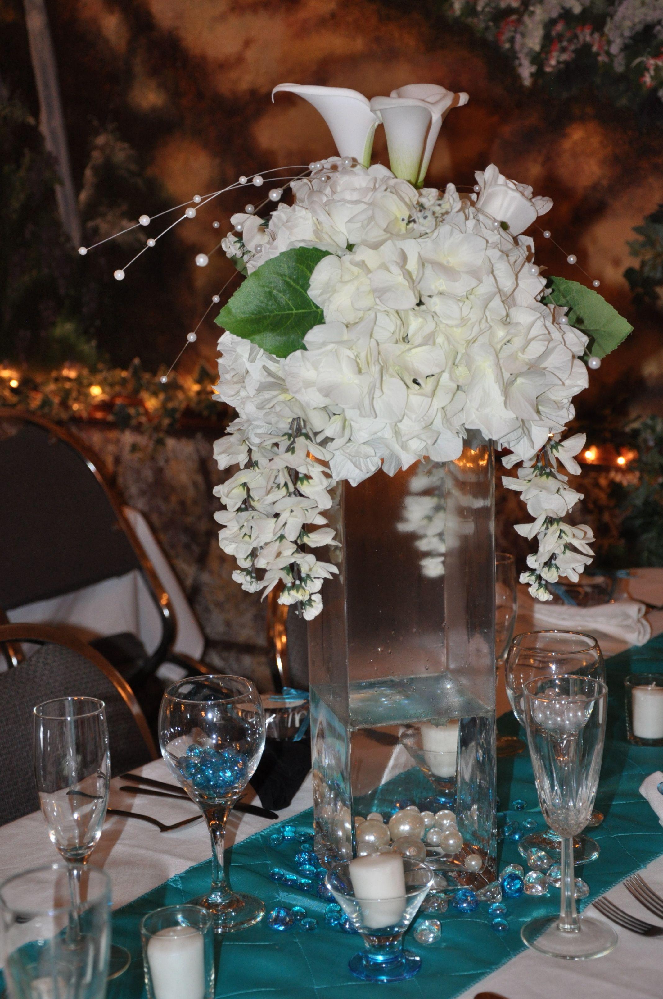 Silk Flower Centerpiece Top Wedding Reception Decor Pinterest