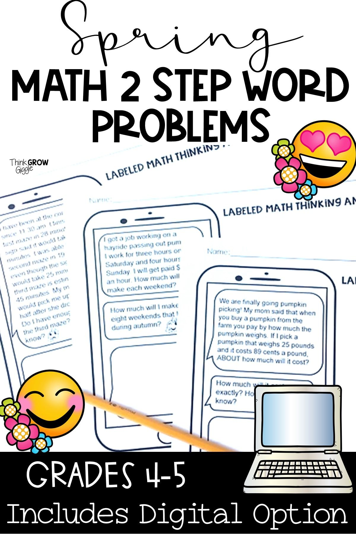 Math Digital And Printable Problem Solving Worksheets