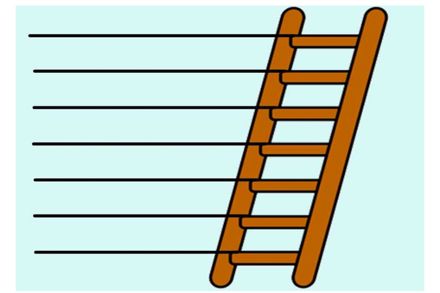 Ranking Ladder thinking tool template for IWB