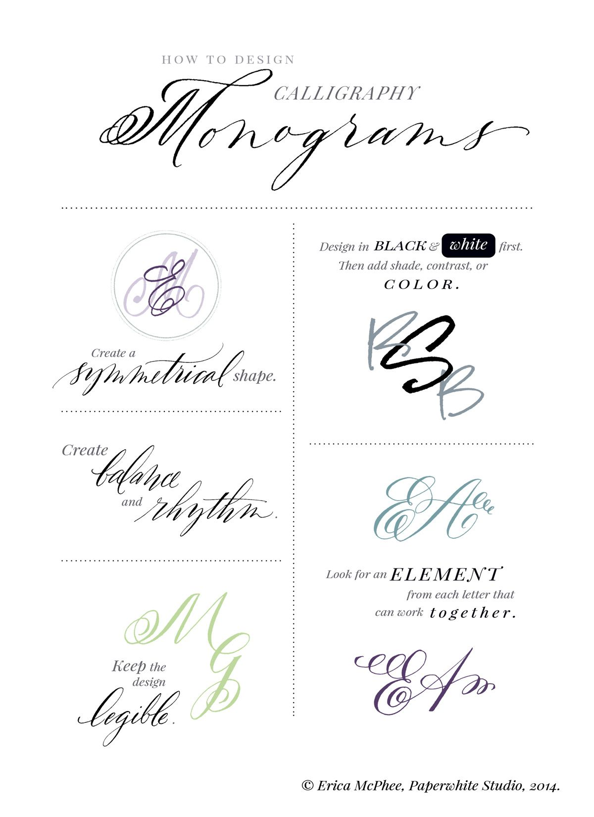 Monogram Tutorial Calligraphy