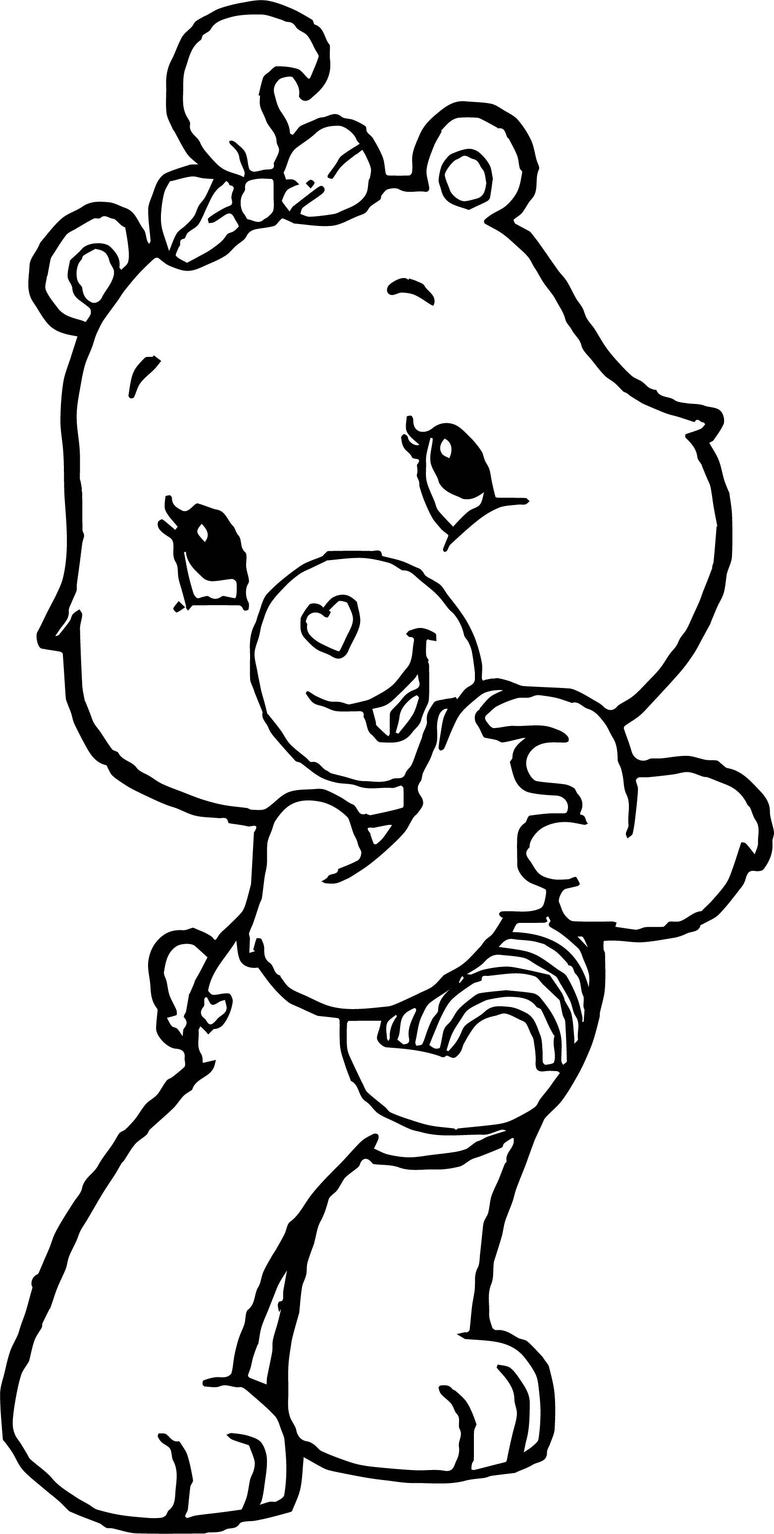 Awesome Happy Care Bears Adventures In Care A Lot Coloring Page