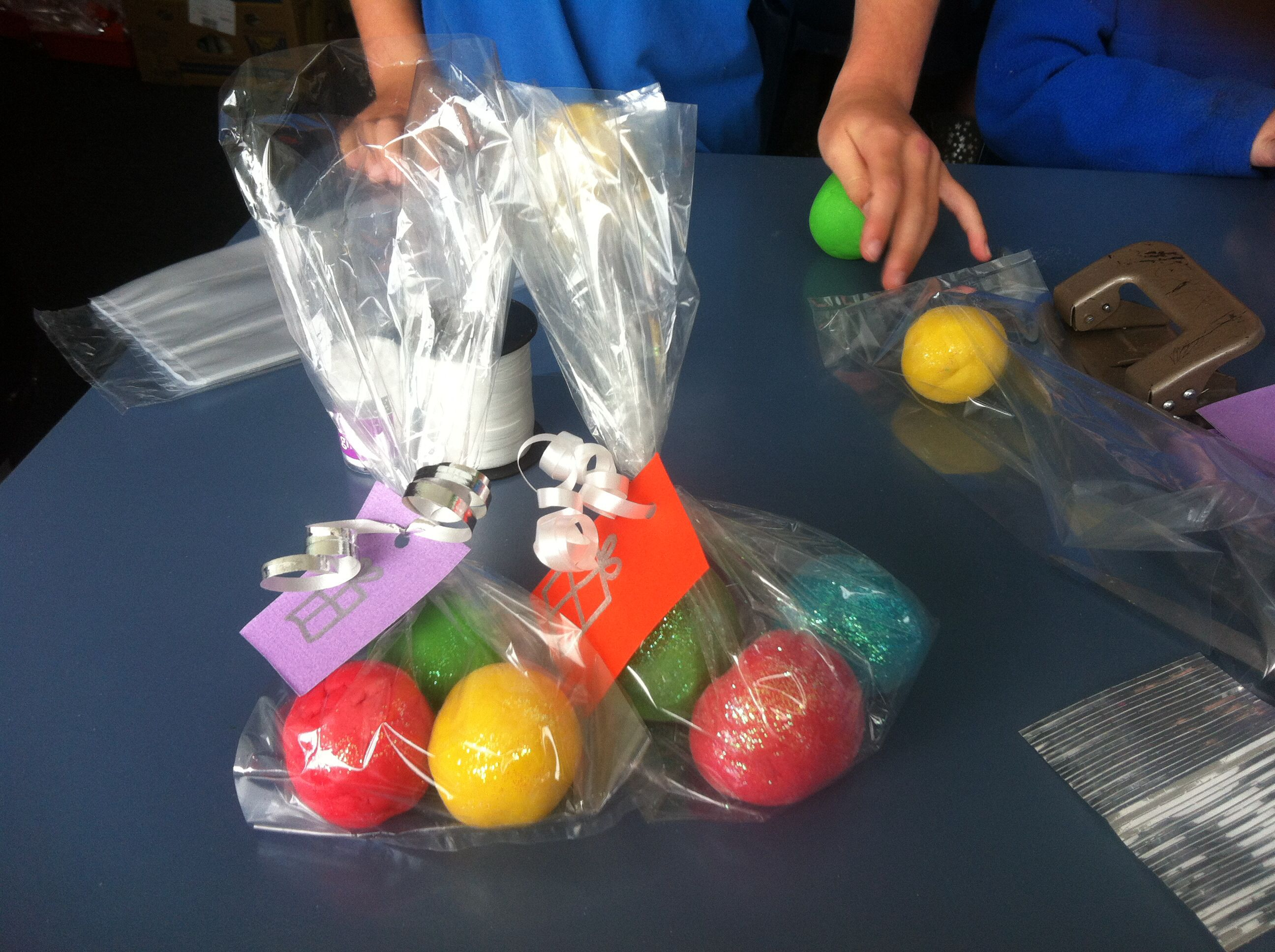 School market day play dough gift bags Market day ideas