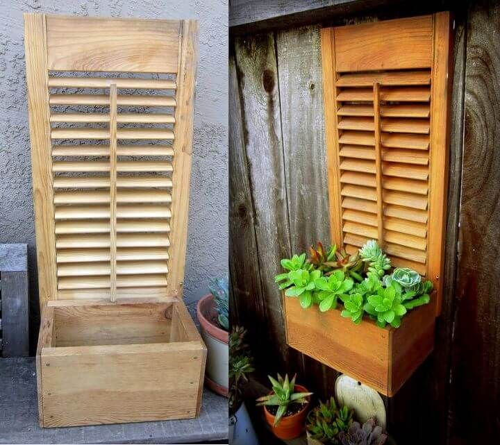 16+ Clever Old Shutter Outdoor Decor Ideas & Designs For 2019