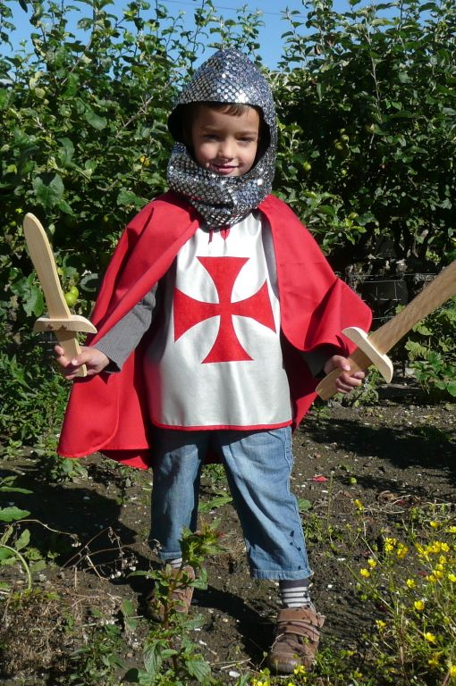 Boys Knight Costume Childs Crusader Fancy Dress Kids Prince Book Week Outfit