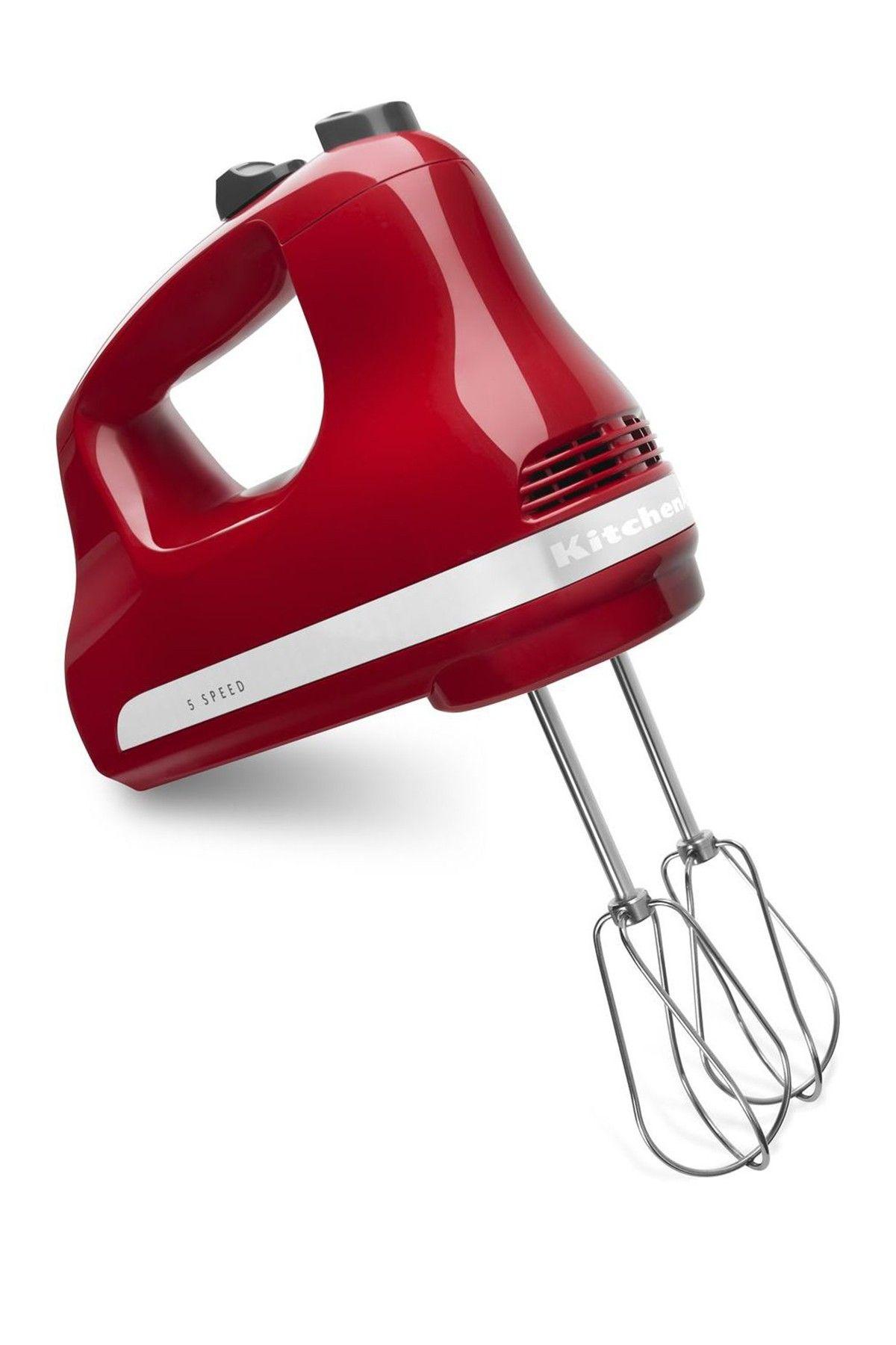 Kitchenaid 5speed hand mixer empire red hand mixer