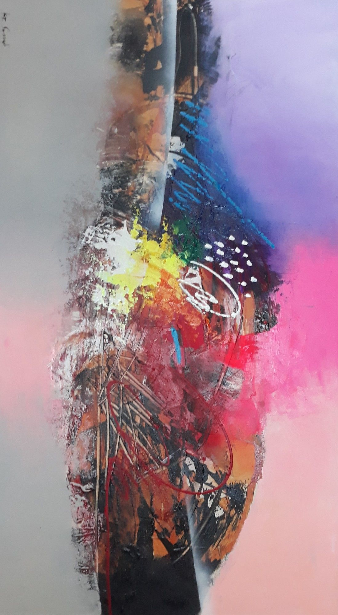 Peint Par Sumadi Tableau Tres Tendance Avec Ses Couleurs Et Tons