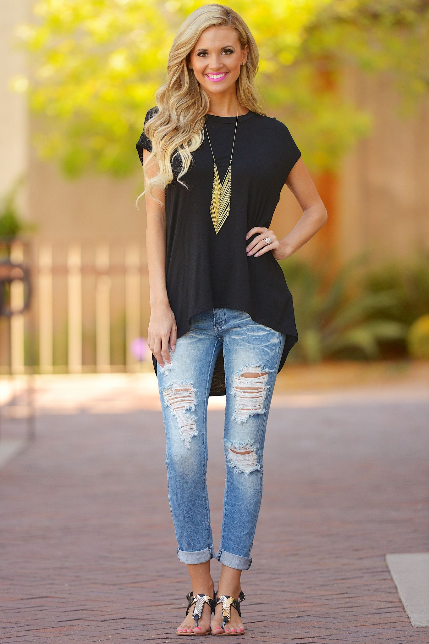 A cut above top black from closet candy boutique code