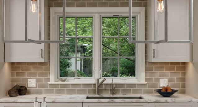 Sink Off Center Maybe As Long As Faucet It Centered On Window