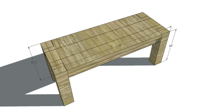 Make A Bench Dimensions For This Project