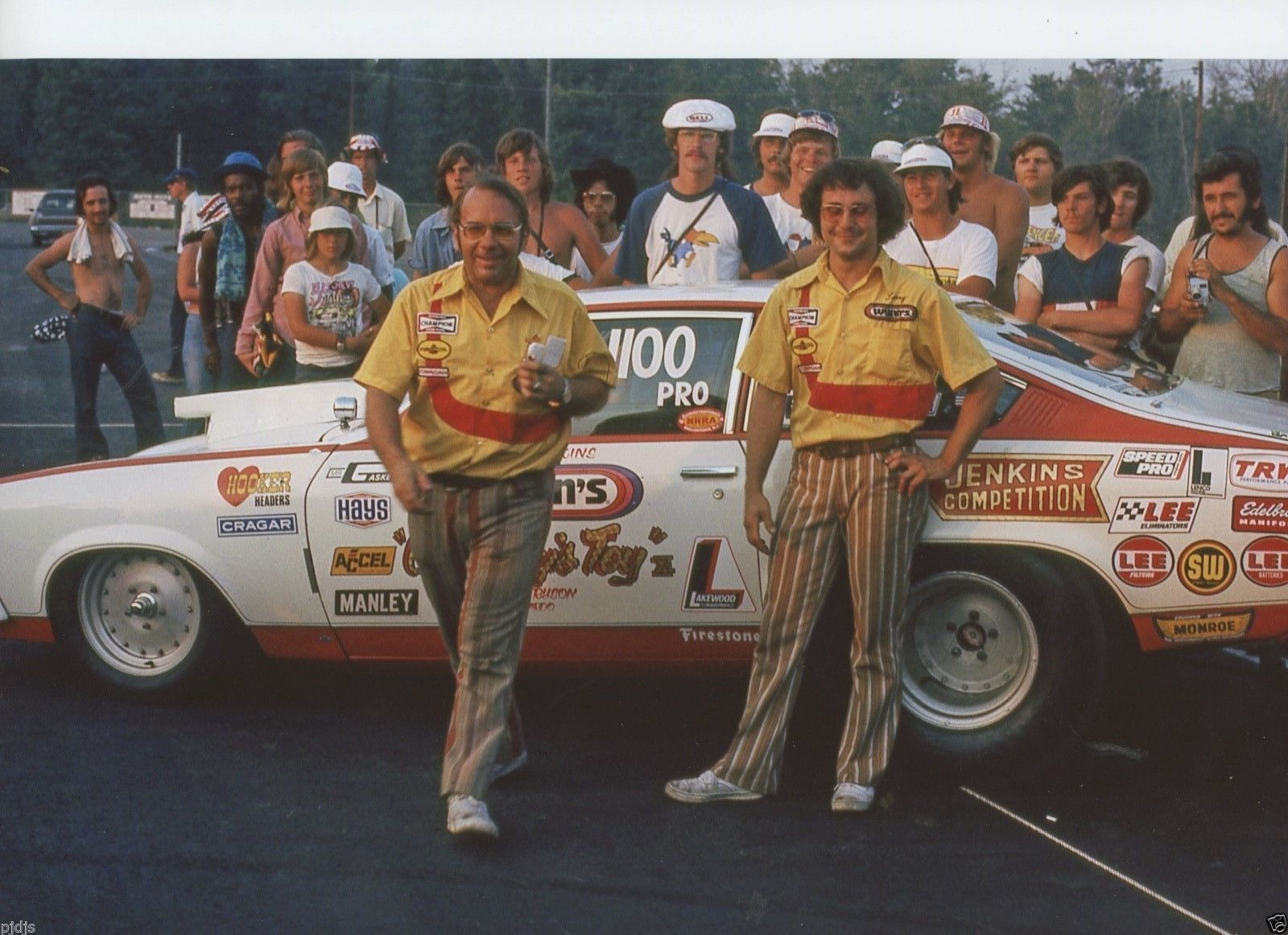 Bill Jenkins And Larry Lombardoin In Winners Circle With Their Car Grumpys Toy Drag Racing Cars Nhra Drag Racing Vintage Racing