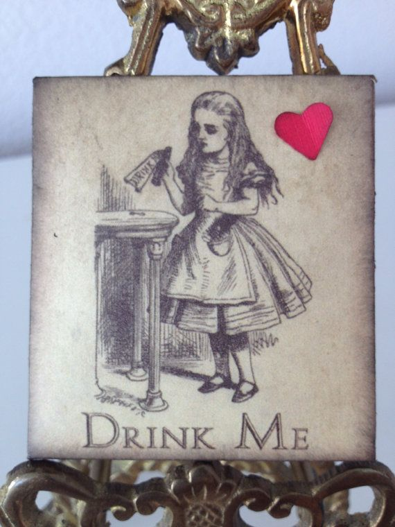Alice In Wonderland Tea Bag Wedding Favors by PaperSparrowCouture