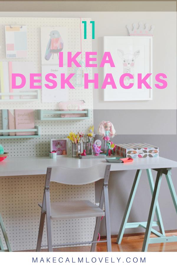 Ikea Desk Hacks In 2020 Ikea Desk Hack Ikea Desk Desk Hacks