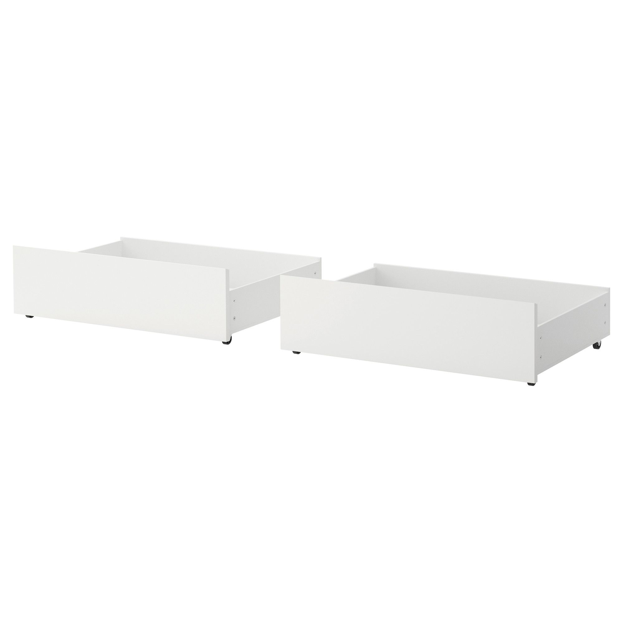Ikea Malm Underbed Storage Box For High Bed White Full Double Twin Single You Get A Lot Of Extra Under The Frame If
