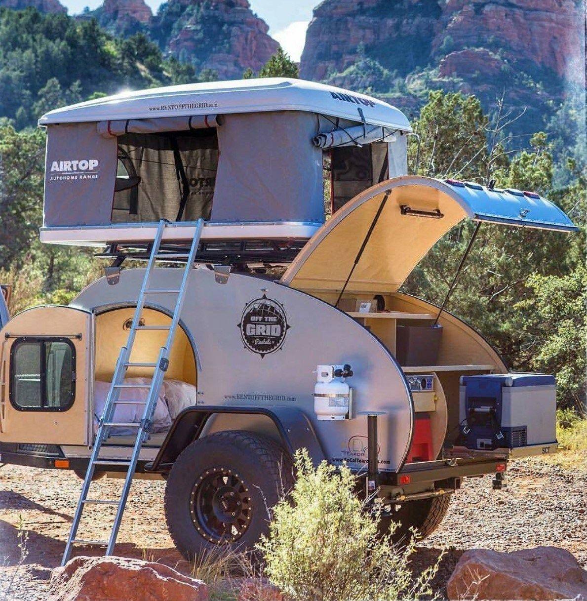 Small Teardrop Camper Trailer (15) | Diy camper trailer ...