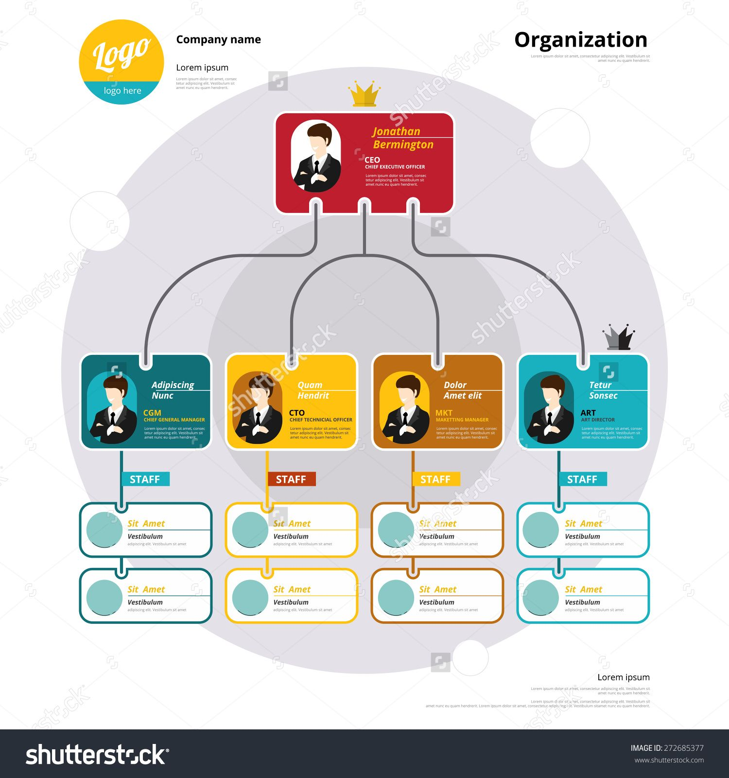 Organization Chart Coporate Structure Flow Of Organizational Vector Illustration Organizational Chart Design Organization Chart Chart Design
