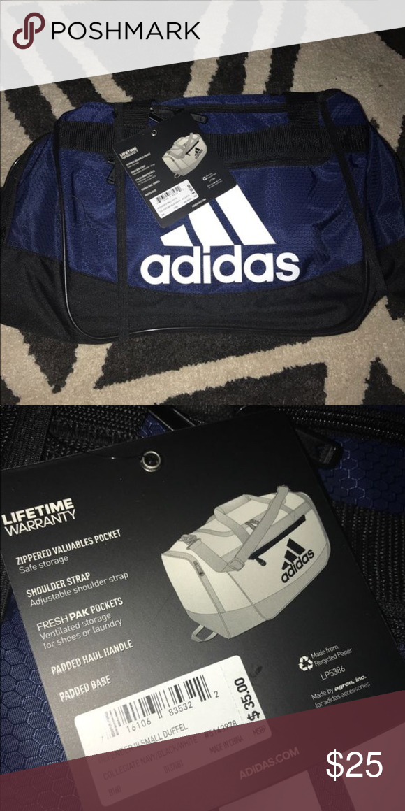 2793fa2bd7f73a BRAND NEW SMALL NAVY ADIDAS GYM BAG Perfect condition with tag adidas Bags  Travel Bags