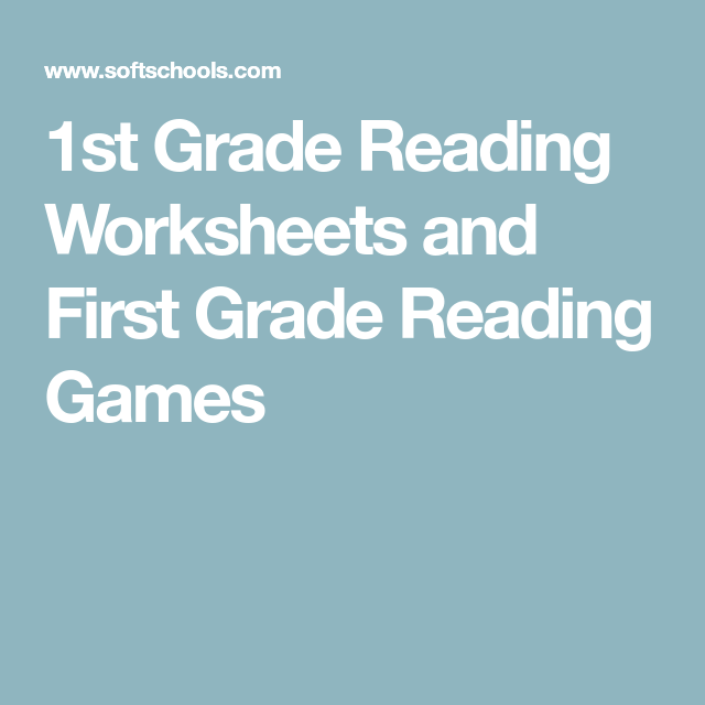 1st Grade Reading Worksheets and First Grade Reading Games | 1st ...