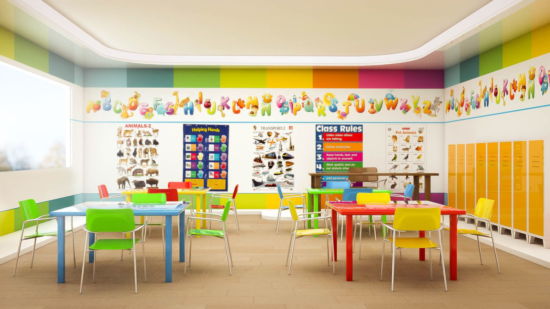 Classroom Design For Kinder ~ Kindergarten interior design kolory w pinterest