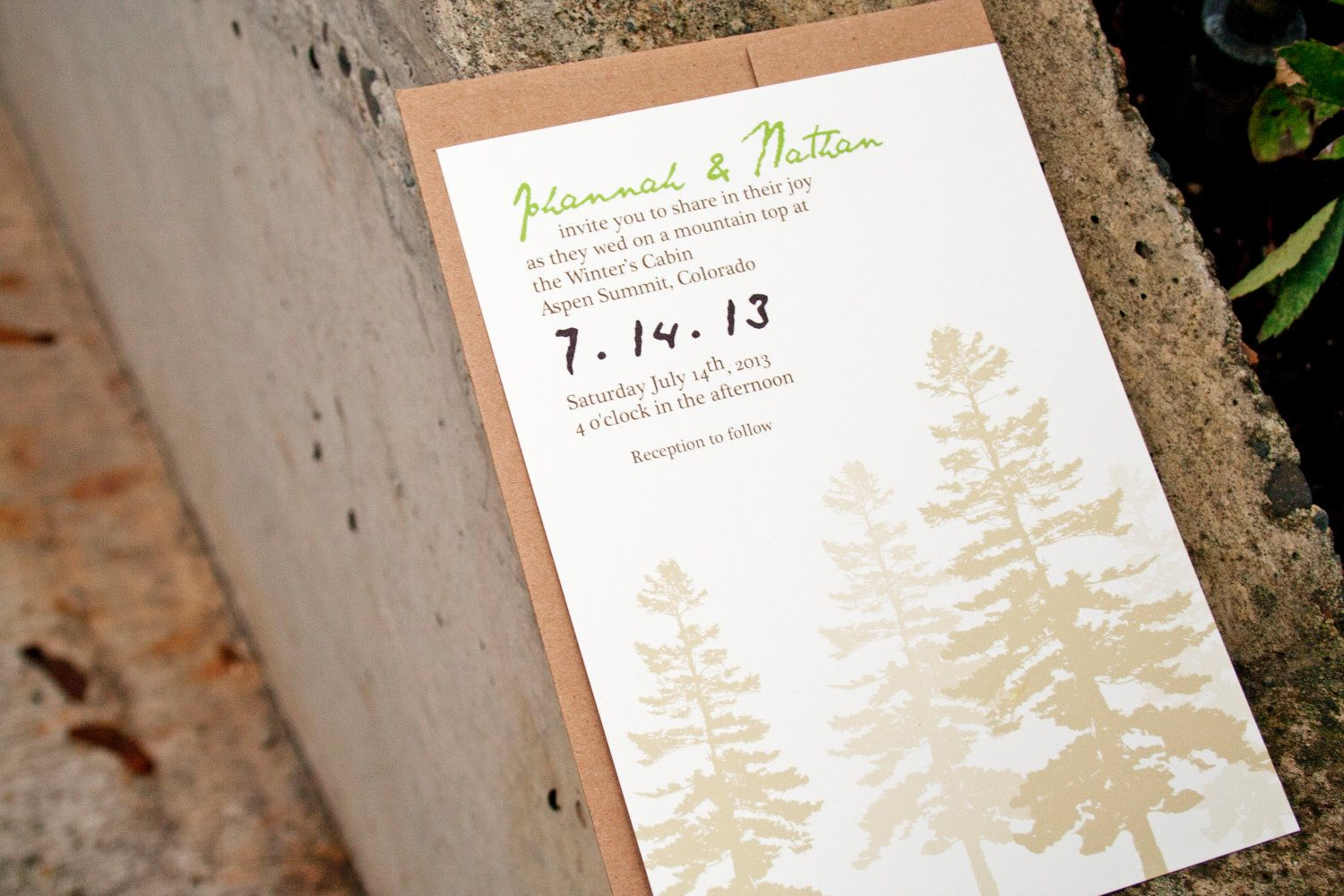 ultimate outdoor wedding invitation with recycled option - Outdoor Wedding Invitations