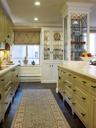 Cabinets and Hardware -- Kitchen Cabinets with glass