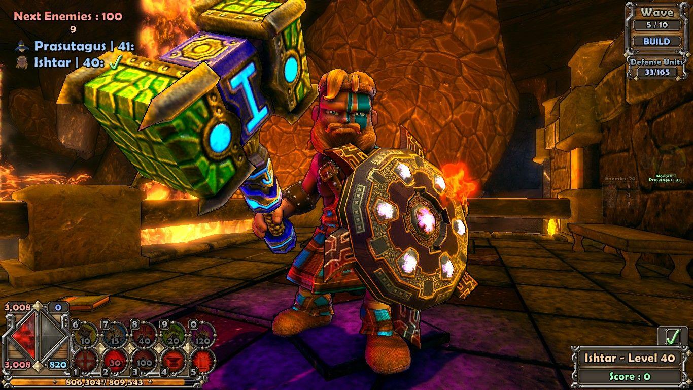 Dungeon Defenders - Meu guerreiro escocês, lindo loiro * - *