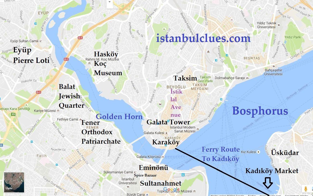 History of Golden Horn Map Neighborhoods Bridges Golden horn