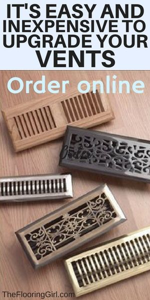 Wood And Metal Floor Registers And Grilles For Hardwood Floors Floor Registers Floor Vents Home Improvement Projects