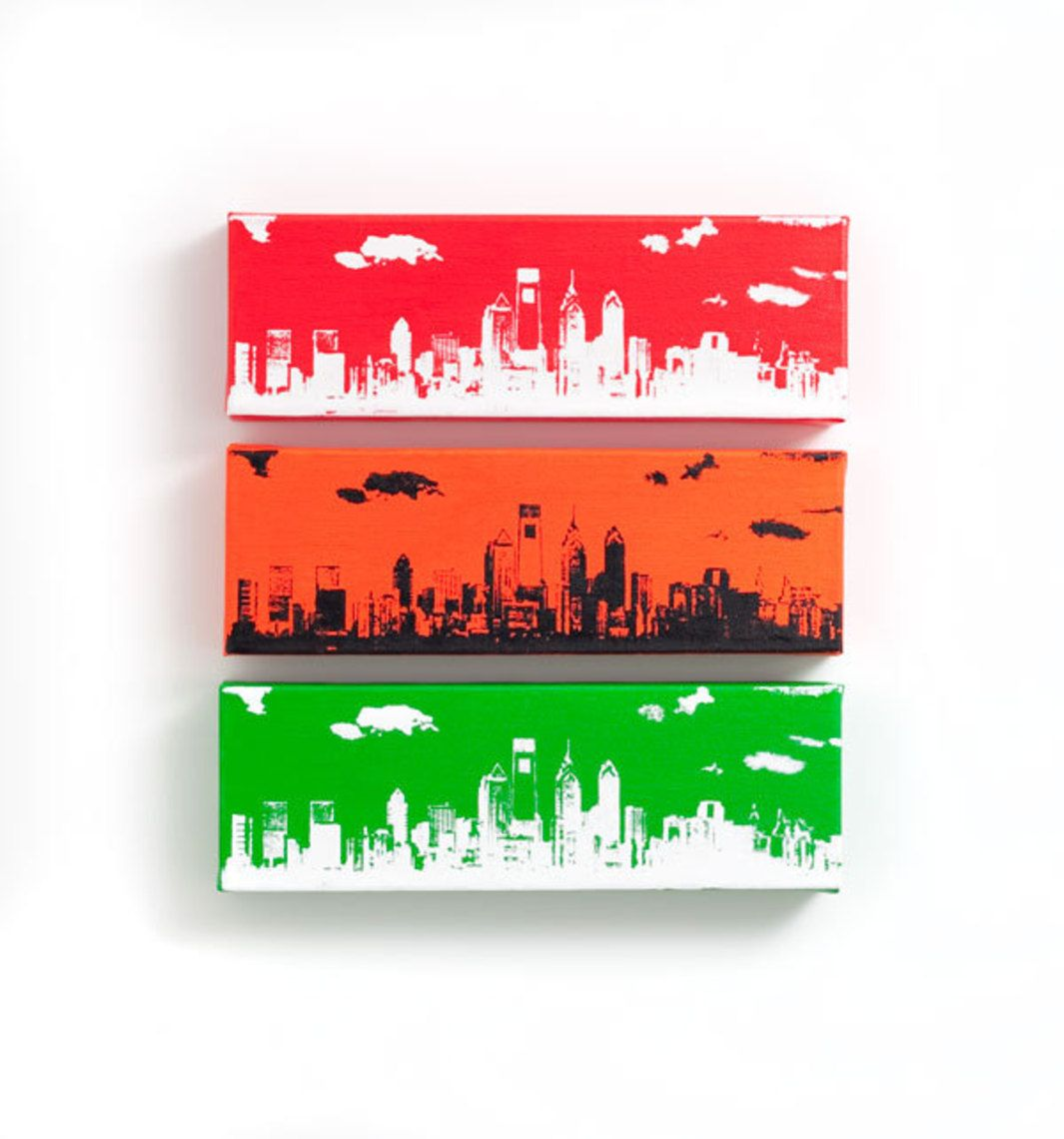 Philadelphia Skyline canvas by Ink the Print on www.goodsmiths.com.