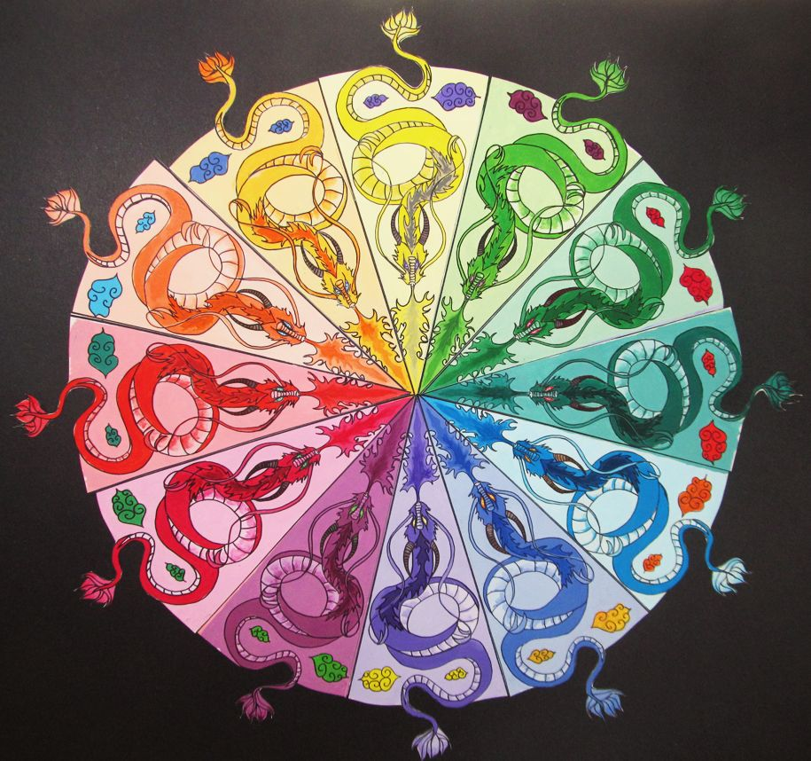 Dragon Color Wheel WIP By Leustante On DeviantART