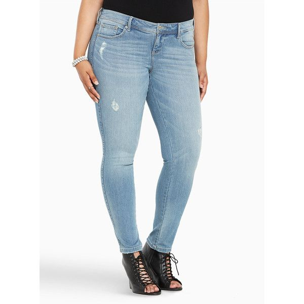 e2e8879ff3187 Torrid Premium Stretch Luxe Skinny Jeans - Light Wash (Extra Tall) ( 59)