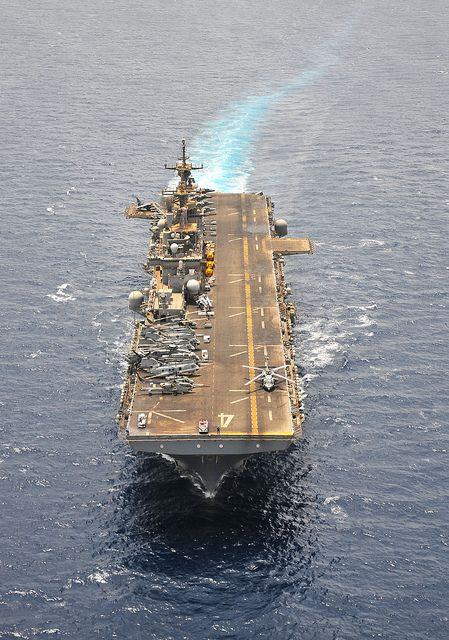 uss boxer transits the gulf of aden