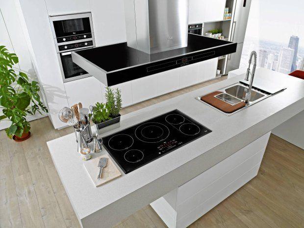 Plyta Indukcyjna Na Wyspie Okap Szukaj W Google Interior Home Decor Kitchen Appliances