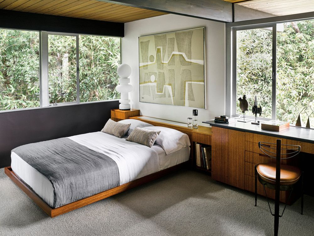 Richard Neutra S Hailey Residence Has Hardly Changed A Bit Mid Century Home Mid Century Bedroom Design Mid Century Modern Bedroom Design Mid Century Modern Master Bedroom