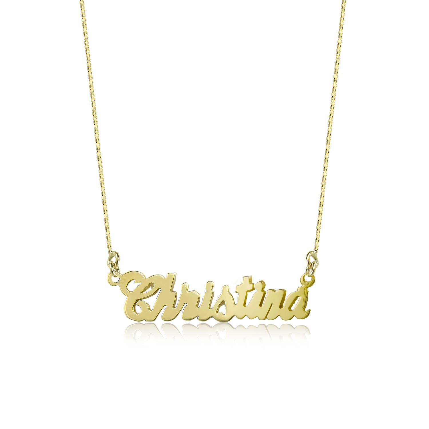 10k Solid Yellow Gold Personalized Name Necklace Pendant Box Chain Description Material Genuine 10k Solid Yellow Gold Necklace Gold Yellow Gold