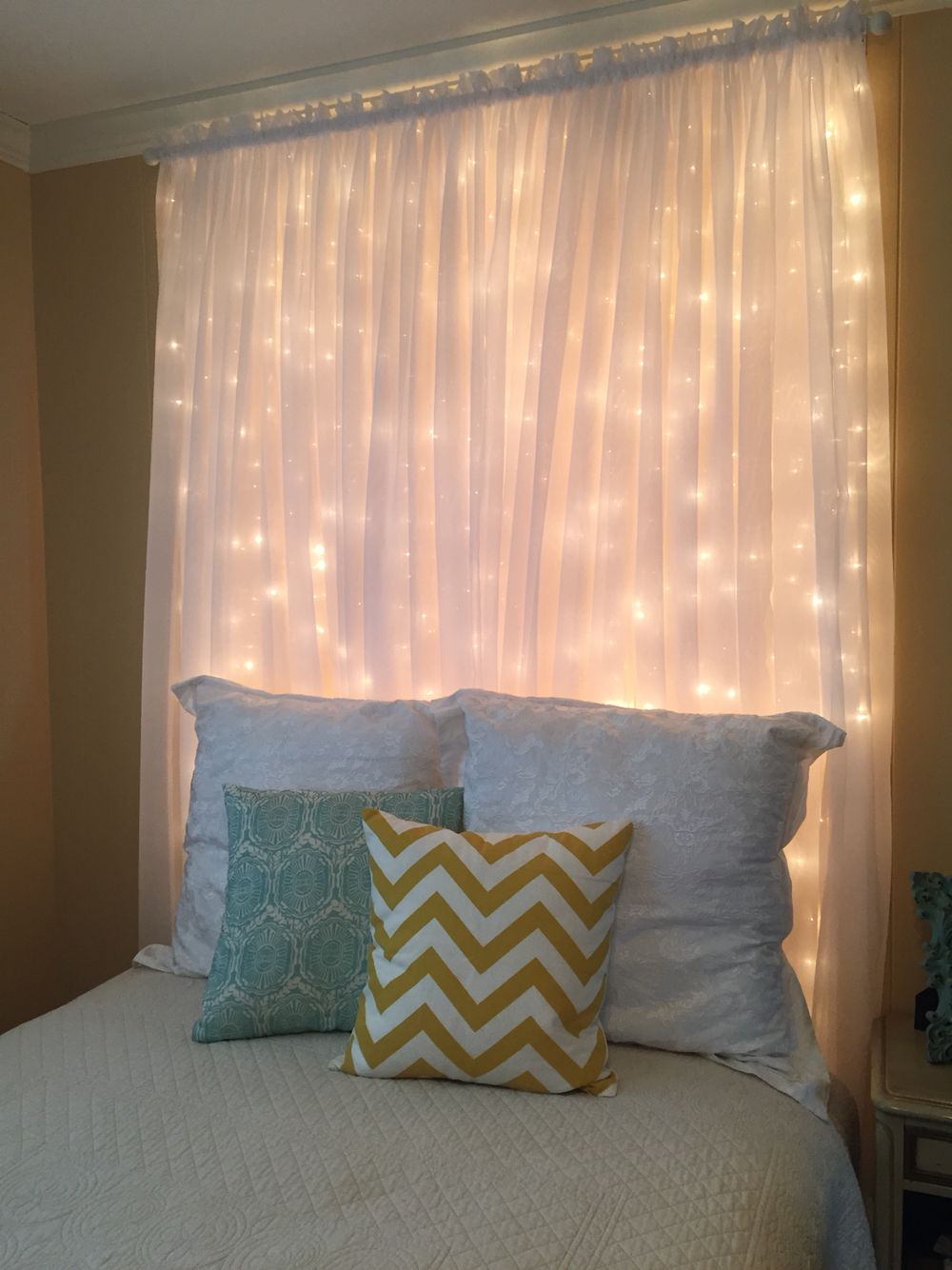 Dim light up headboard diy cabeceros pinterest lights