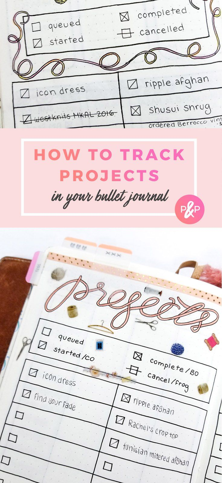 Tracking Projects with Bullet Journal - Productive & Pretty
