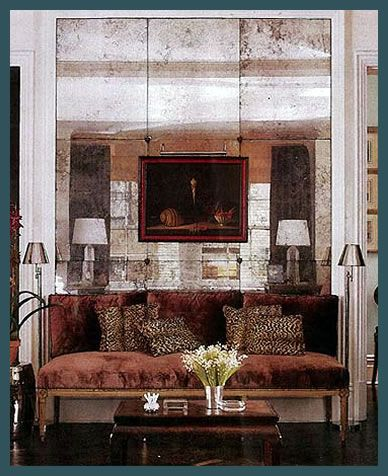 Wall Mirror Panels beautiful antique mirror panels with an antique couch. | antique