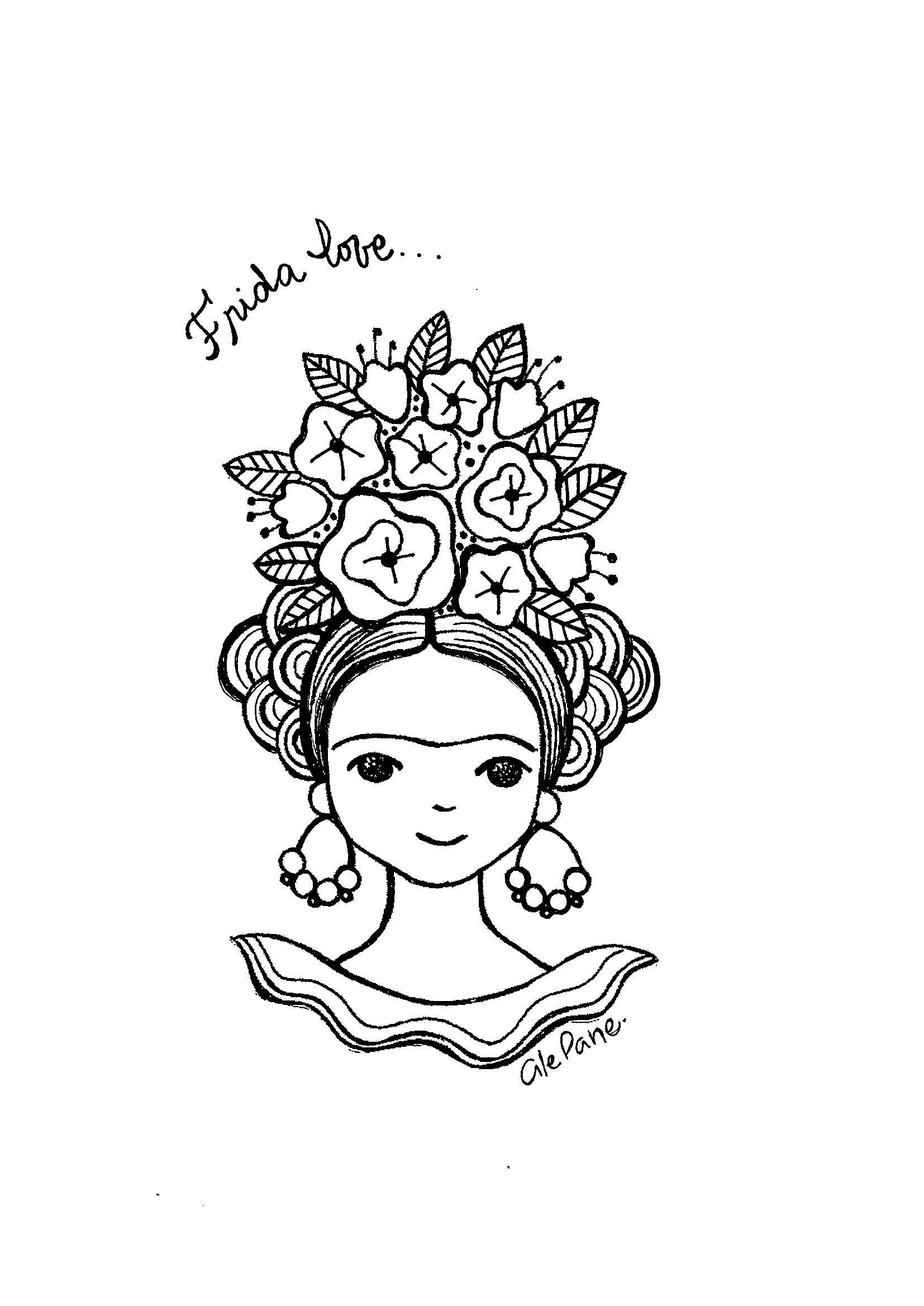 Frida Love En 2020 Frida Kahlo Dibujo Frida Kahlo Caricatura Frida Dibujo